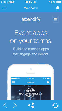 Event App Web View Feature